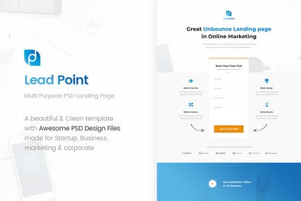 LeadPoint - Multi Purpose PSD Landing Page