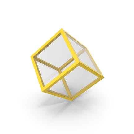Glass Cube Yellow