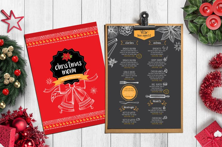 Thumbnail for Christmas Menu Restaurant Template