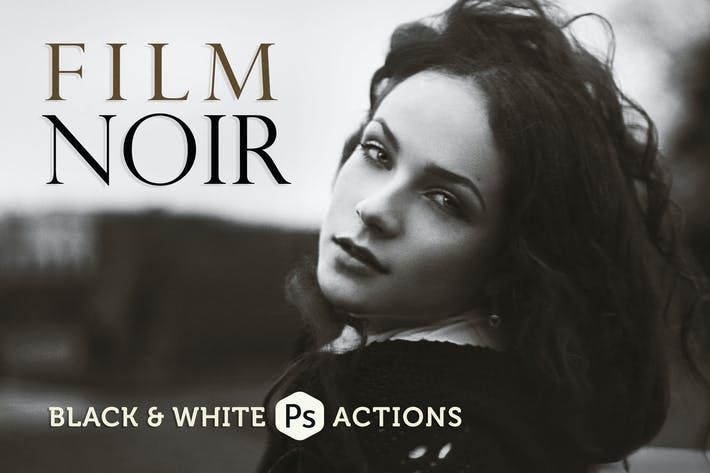 Thumbnail for Film Noir B&W Photoshop Actions