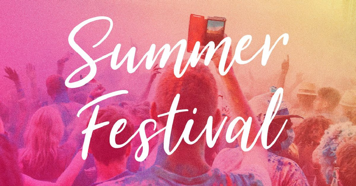 Download Summer Festival Typeface by MPFphotography