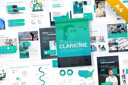 Claricine Portrait Medical PowerPoint Template