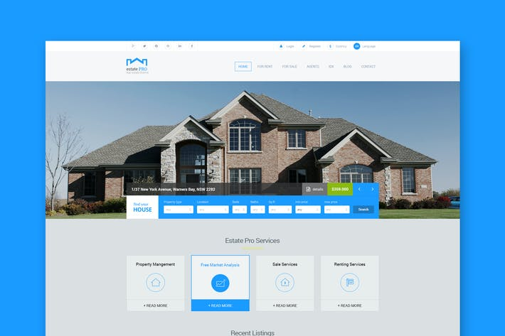 Thumbnail for Estate Pro - Plantilla HTML Inmobiliaria