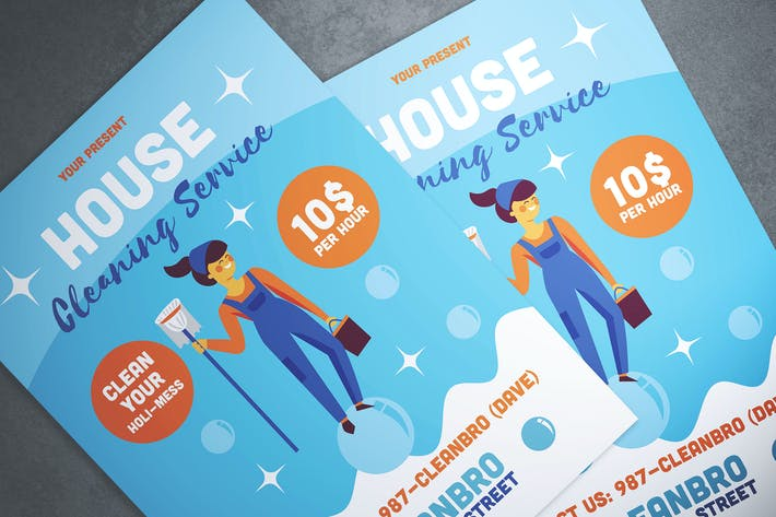 Thumbnail for House Cleaning Service Flyer