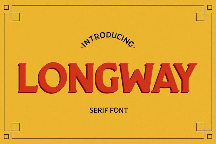 Thumbnail for Longway - Serif Font