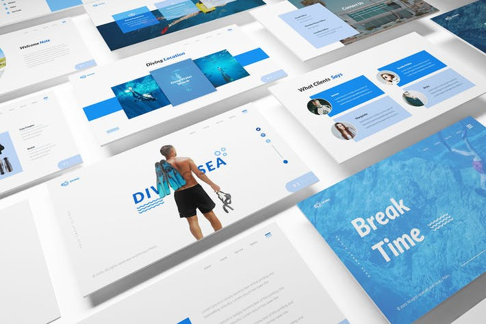Thumbnail for Diving School Powerpoint Template