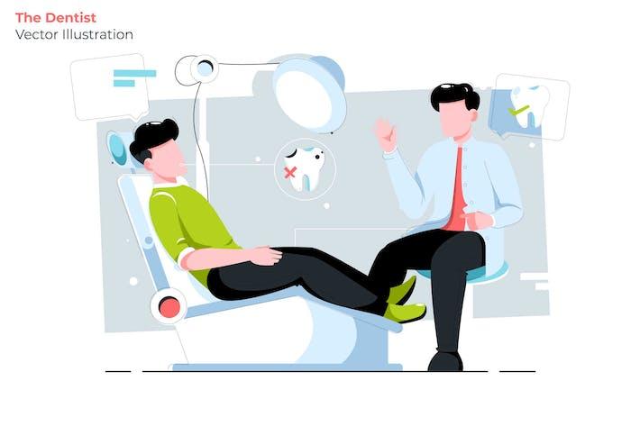 Thumbnail for The Dentist - Vector Illustration
