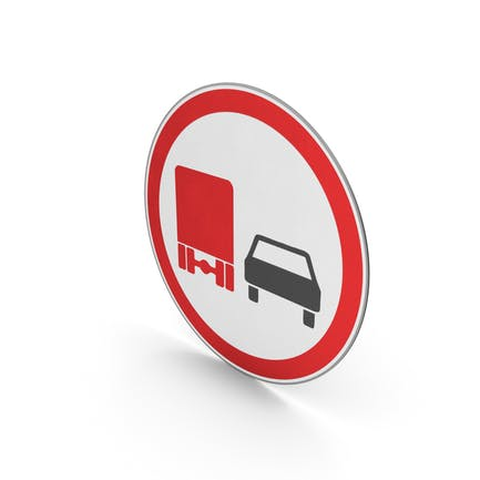 Verkehrszeichen kein Überholen für Nutzfahrzeuge