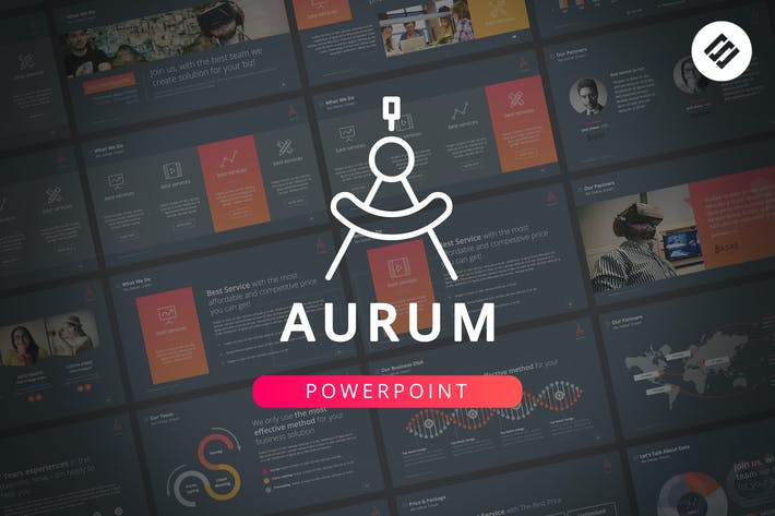 Thumbnail for Aurum - Powerpoint Template