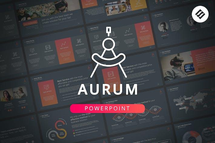 Cover Image For Aurum - Шаблон Powerpoint