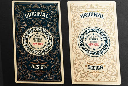 2 vintage labels ready for packing