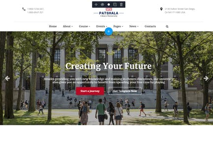 Patshala – Education HTML Template with Page Build