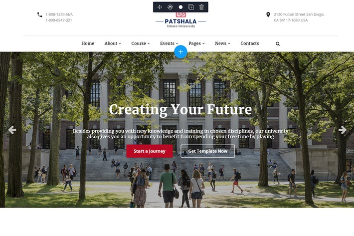 Thumbnail for Patshala – Education HTML Template with Page Build