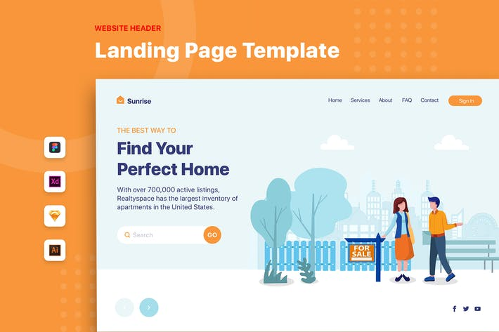 Thumbnail for Найдите свой идеальный дом - Заголовок баннер