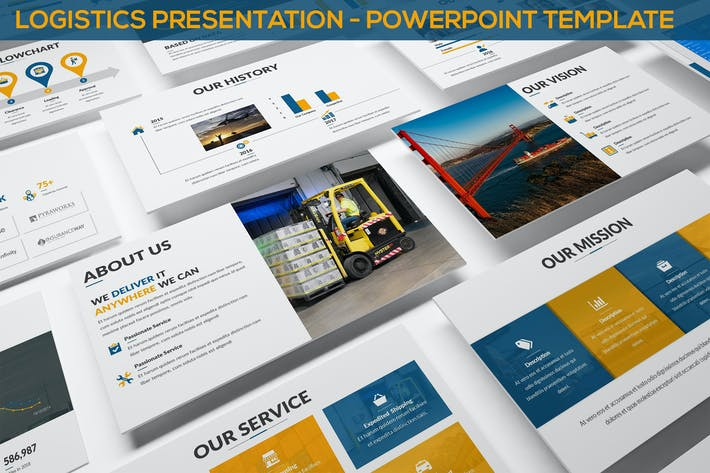 Thumbnail for Logistics Presentation - Powerpoint Template