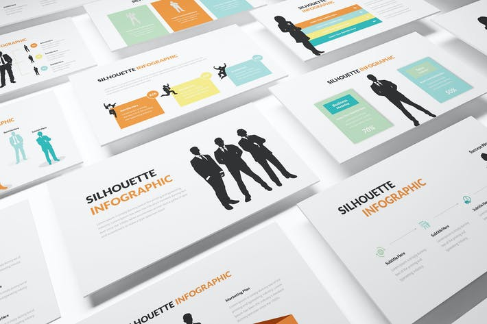 Thumbnail for Silhouette Infographic Powerpoint Template