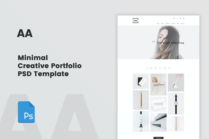 AA - Minimal Creative Portfolio PSD Template by bigpsfan on Envato ...
