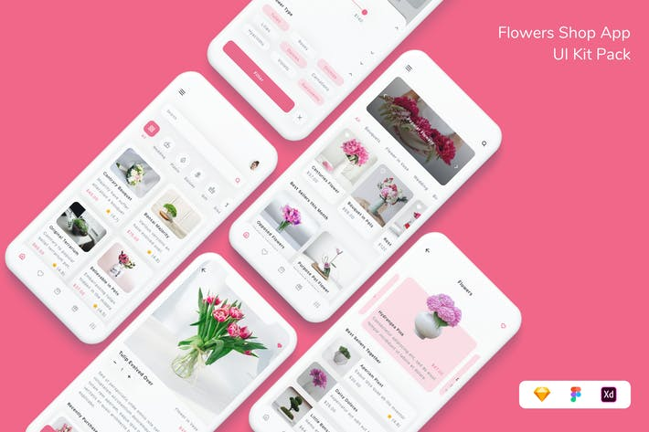 Flowers Shop App UI Kit Pack