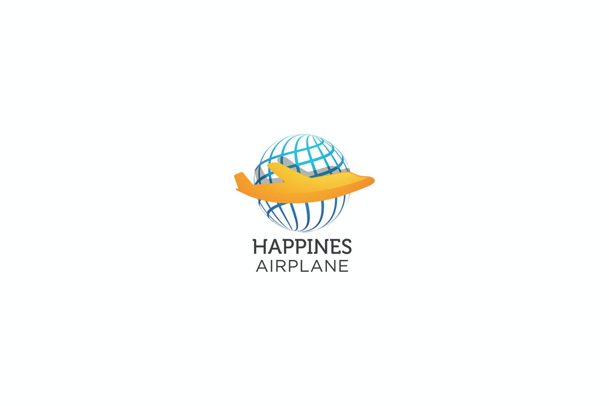 Download Happines Airplane - Logo Template by jiwstudio by Unknow
