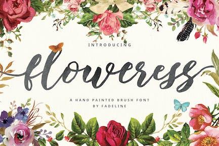 Floweress - Pincel pintado a Mano y WEBFONT