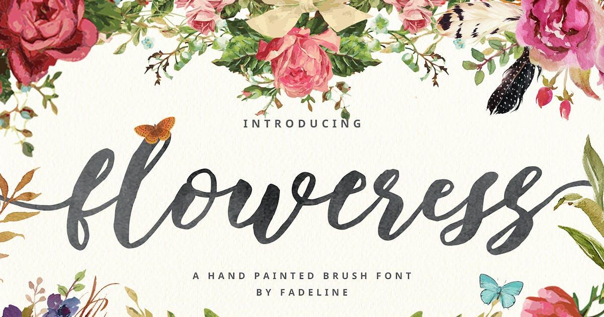 Floweress - Hand Painted Brush & WEBFONT by FadeLine_Std