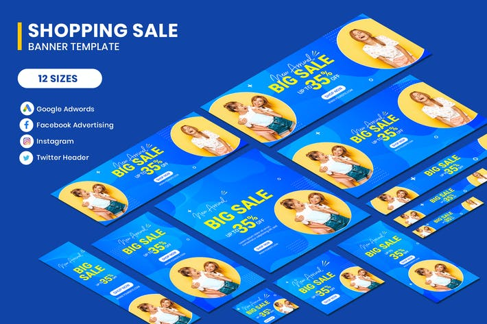 Thumbnail for Shopping Sale Google Adwords Banner Template