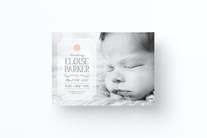 Thumbnail for Ankündigungskarte für Babys zur Geburt