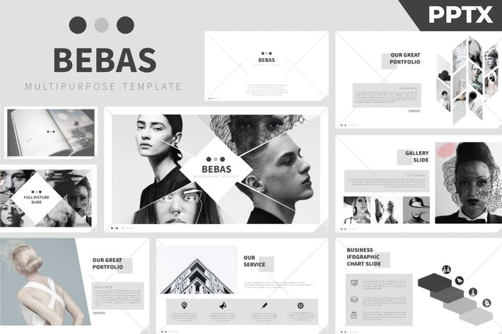 Thumbnail for Bebas Powerpoint Template