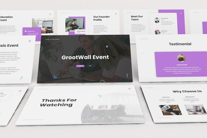 Thumbnail for Event Organizer Keynote Template