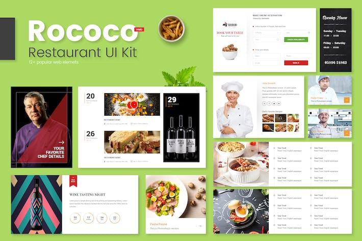Thumbnail for Rococo Restaurant Web UI Kit