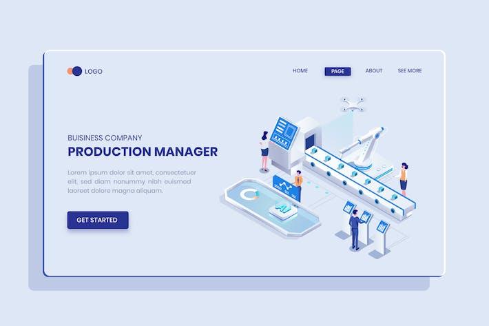 Thumbnail for Produktmanager Isometrisches Vektor konzept
