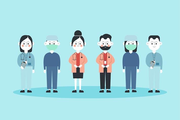 Doctor & Nurse - Illustration Character Set