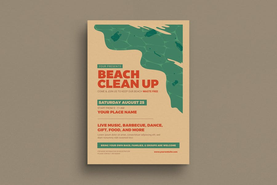 Beach Clean Up Event Flyer