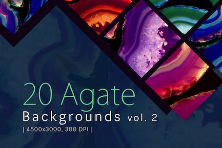 20 Agate Backgrounds vol. 2
