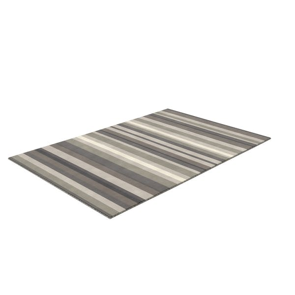 Thumbnail for Grey Stripe Rug Rectangular