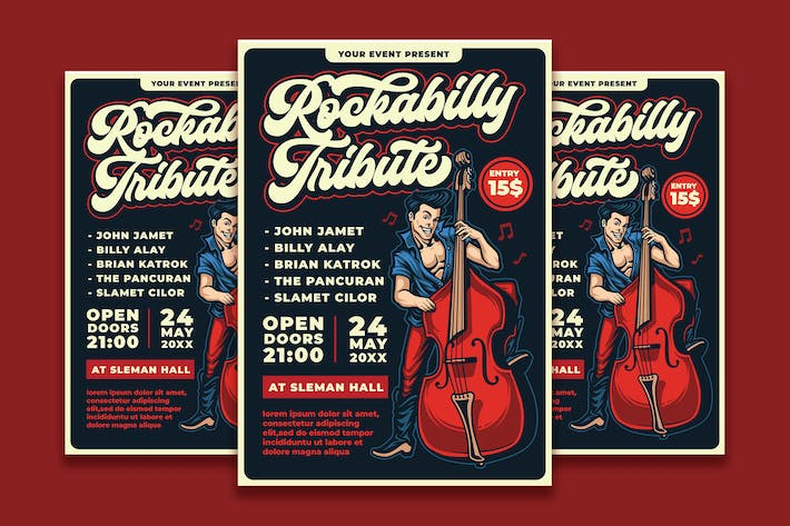 Thumbnail for Rockabilly Show Flyer Template