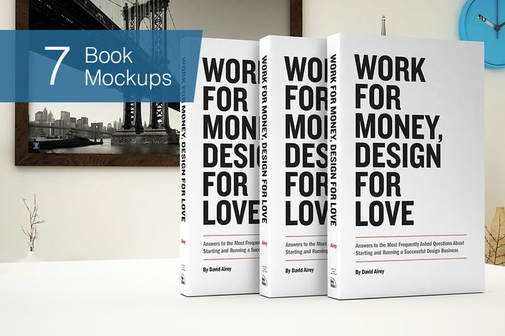 Cover Image For Book Mockup - 7 Poses