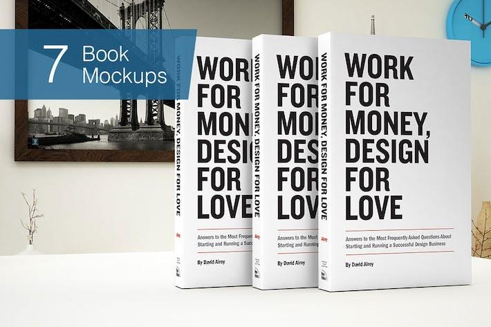 Thumbnail for Book Mockup - 7 Poses