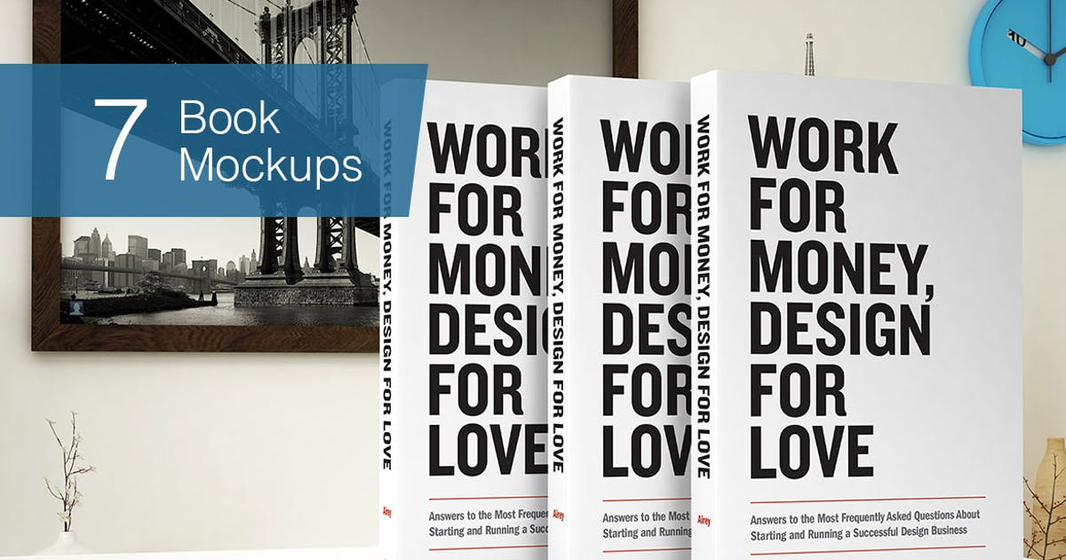 Download Book Mockup - 7 Poses by smartybundles