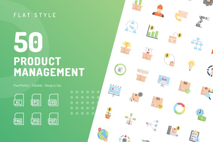 Product Management Flat Icons