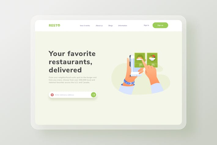 Thumbnail for Food subscription Landing Page Website