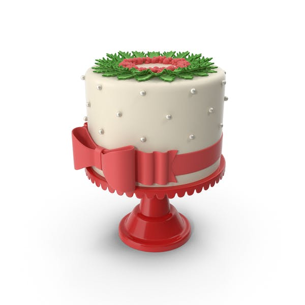 Thumbnail for Christmas Cake with Red Bow