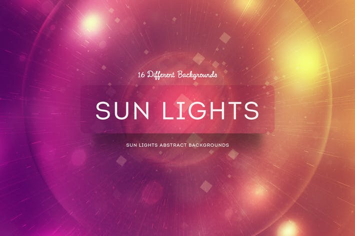 Cover Image For Sun Lights Abstract Backgrounds