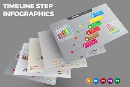 Timeline Step – Infographics Design