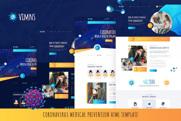 Vimns - Coronavirus Medical Prevention HTML