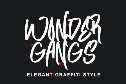 Wonder Gangs Graffiti Font