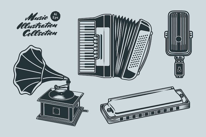 Thumbnail for Music Vintage Illustration Collection