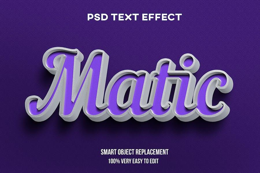 Purple on concrete text effect
