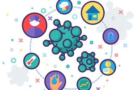 Virus Protection Infographic Vector Illustration