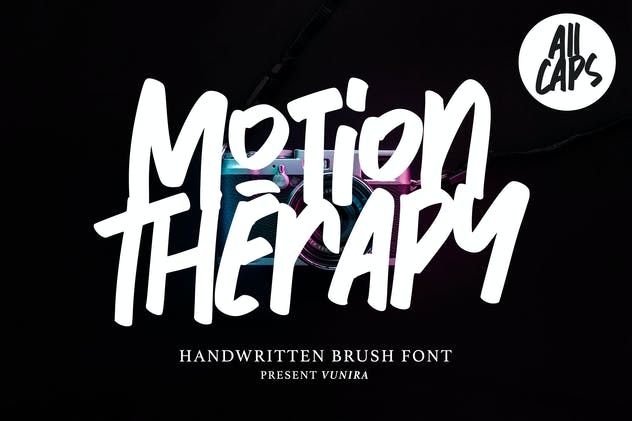 Motion Therapy | Handwritten Brush Font - product preview 5
